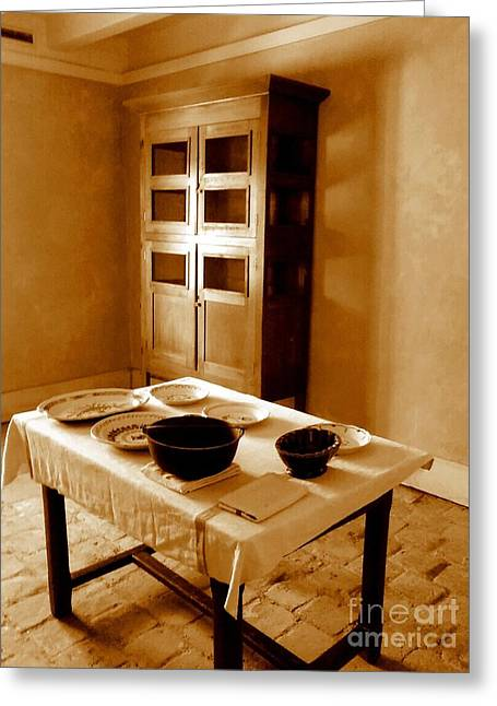 Whitney Plantation Food Serving Room In Wallace Louisiana  Greeting Card by Michael Hoard