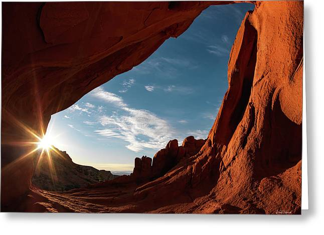 Greeting Card featuring the photograph Whitney Pocket Arch by Leland D Howard