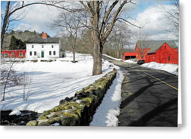 Whittier Birthplace Greeting Card