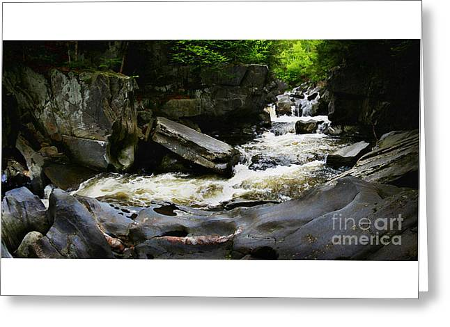 Whittingham Falls Greeting Card by Alan Del Vecchio