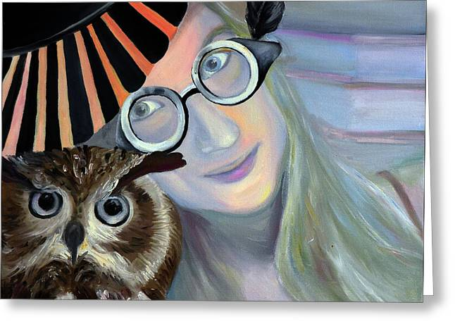 Who Are You Calling 4 Eyes, 2011, 50-50cm, Oil On Canvas Greeting Card