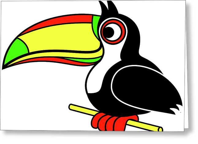 Who Can Tucan Greeting Card by Asbjorn Lonvig