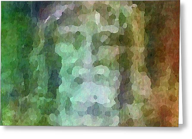 Who Do Men Say That I Am - The Shroud Greeting Card by Glenn McCarthy Art and Photography