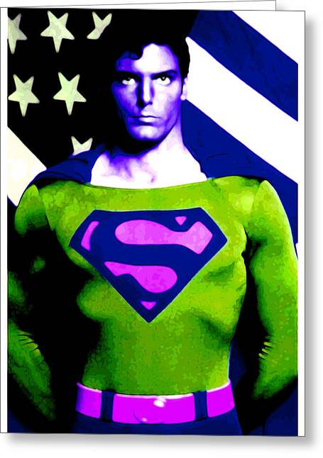 Greeting Card featuring the digital art Who Is Superman by Saad Hasnain