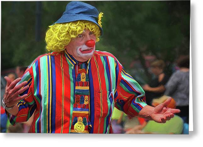 Who Knows - Clown - Parade Greeting Card