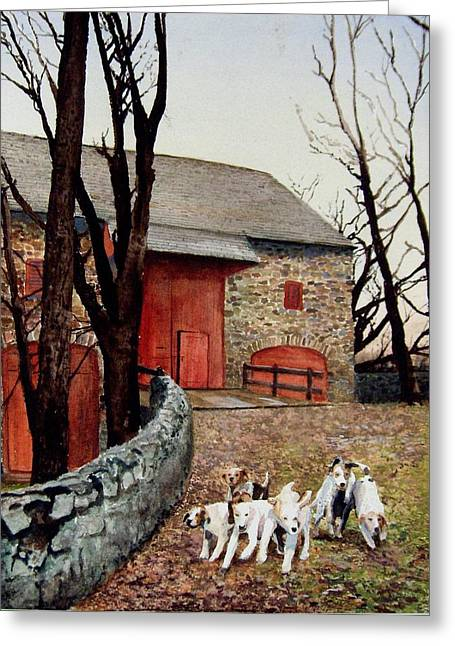 Who Let The Dogs Out Who Who Greeting Card by Haldy Gifford