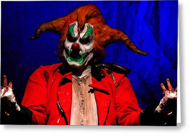 Scary Clown Greeting Cards - Who me Greeting Card by David Lee Thompson