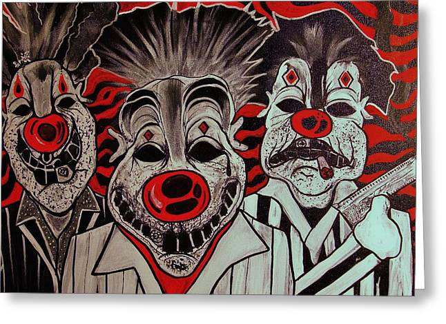 Who R These Clown's..... Greeting Card by Ottoniel Lima