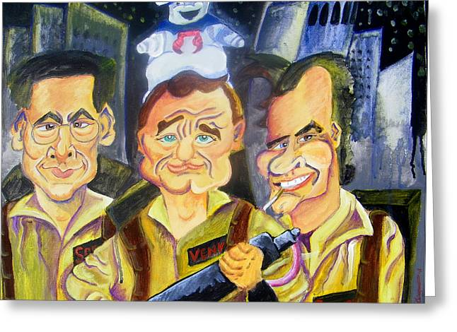 Who You Gonna Call Greeting Card by Jacob Logan