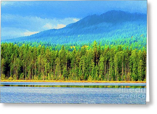 Greeting Card featuring the photograph Whonnock Lake Mountain Photo Art by Sharon Talson
