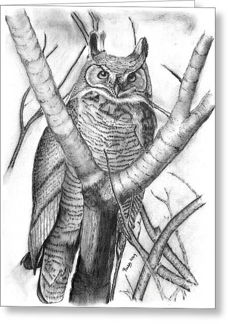 Whooo Greeting Card by Russ  Smith