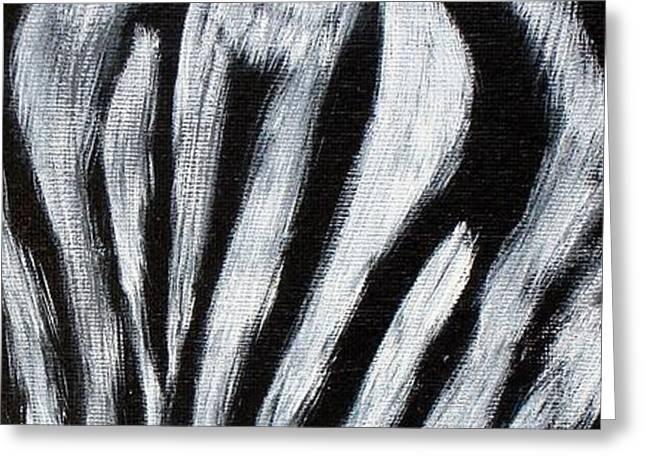 Whos Watching Who   Zebra Greeting Card by Darlene Green