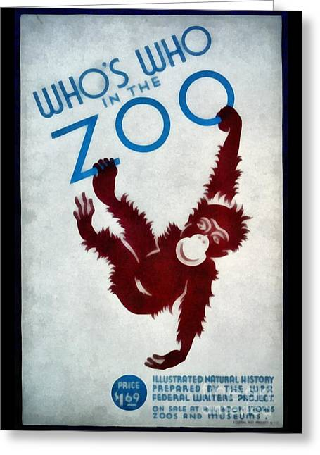 Who's Who In The Zoo Wpa Greeting Card