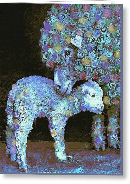 Whose Little Lamb Are You? Greeting Card