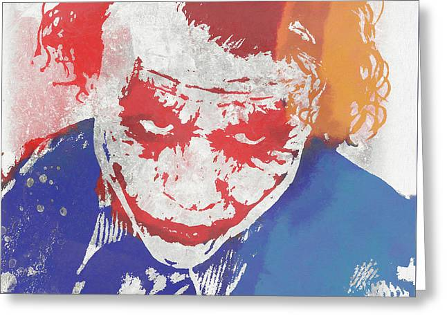 Why So Serious Greeting Card by Dan Sproul