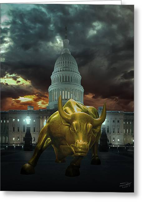 Why Washington Angers Us? Greeting Card by IM Spadecaller