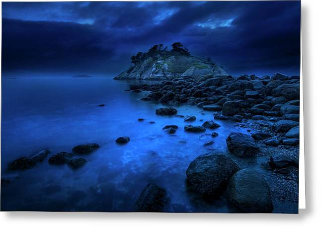 Greeting Card featuring the photograph Whytecliff Dusk by John Poon