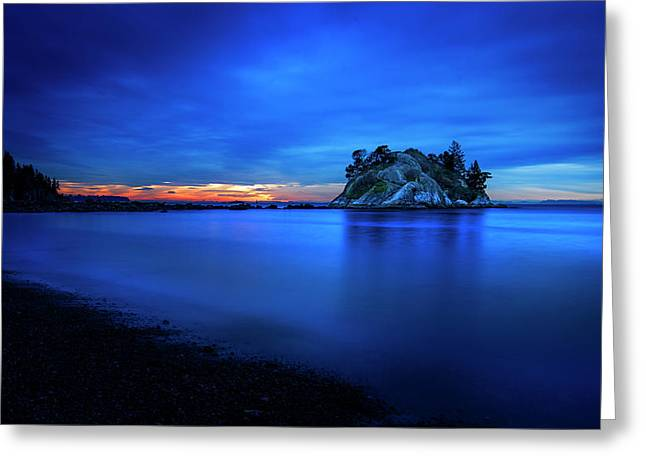 Greeting Card featuring the photograph Whytecliff Sunset by John Poon