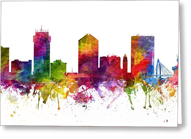 Wichita Cityscape 06 Greeting Card by Aged Pixel