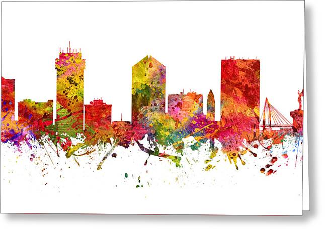 Wichita Cityscape 08 Greeting Card by Aged Pixel