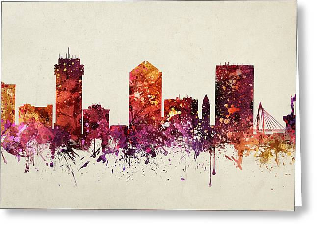Wichita Cityscape 09 Greeting Card by Aged Pixel