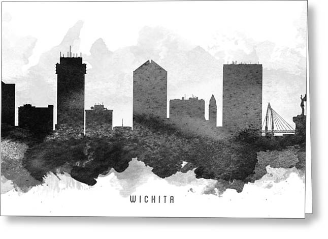 Wichita Cityscape 11 Greeting Card by Aged Pixel