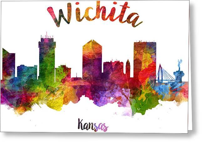 Wichita Kansas 23 Greeting Card by Aged Pixel