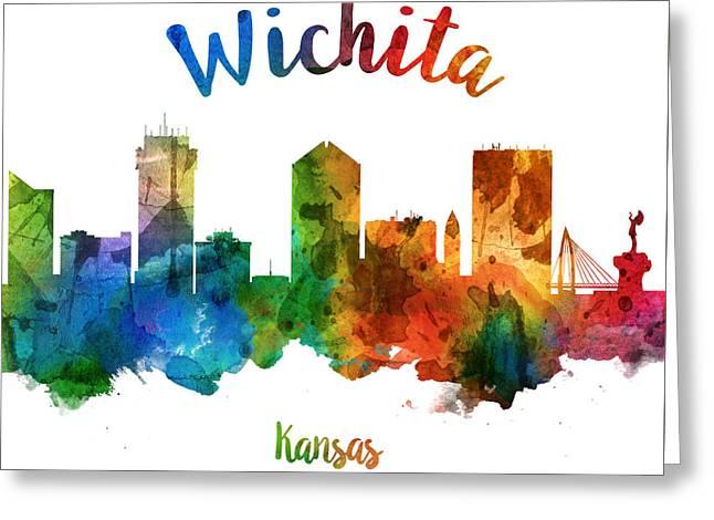 Wichita Kansas 25 Greeting Card by Aged Pixel