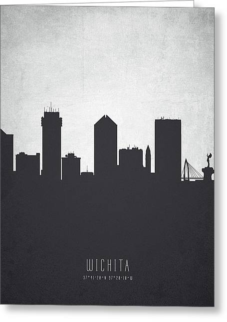 Wichita Kansas Cityscape 19 Greeting Card by Aged Pixel