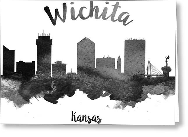 Wichita Kansas Skyline 18 Painting By Aged Pixel
