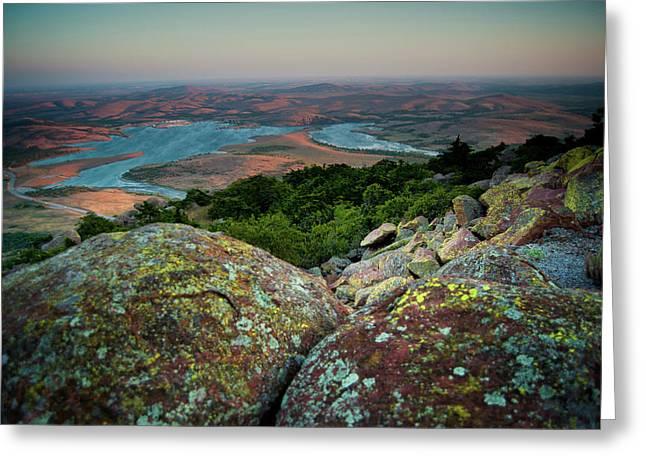 Wichita Mountains In Lawton Greeting Card by Iris Greenwell