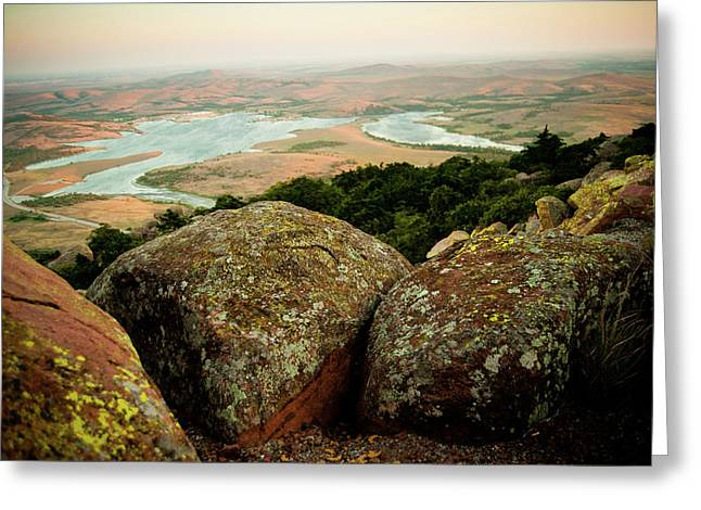 Wichita Mountains In Oklahoma Greeting Card by Iris Greenwell