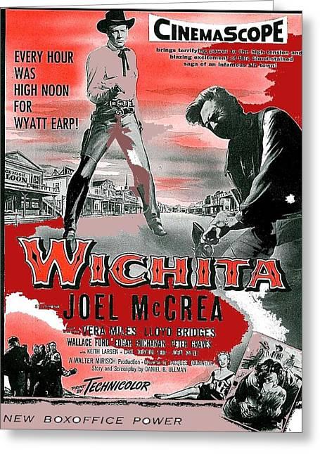 Wichita Movie Poster Joel Mccrea As Wyatt Earp 1955-2015 Greeting Card