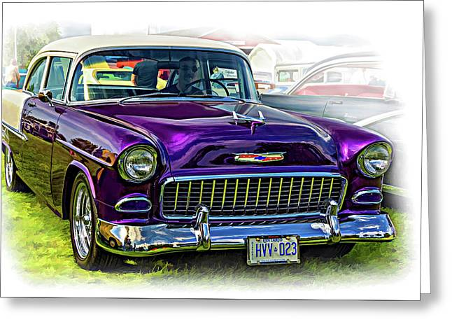 Wicked 1955 Chevy - Vignette Paint Greeting Card