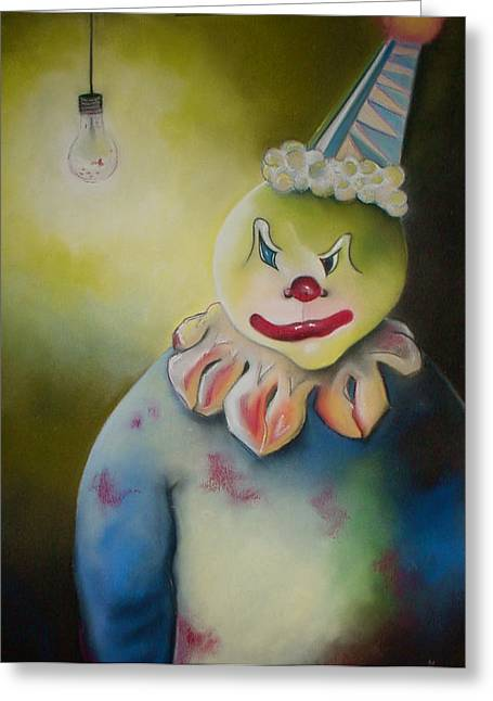 Tracey Levine Greeting Cards - Wicked Clown Greeting Card by Tracey Levine