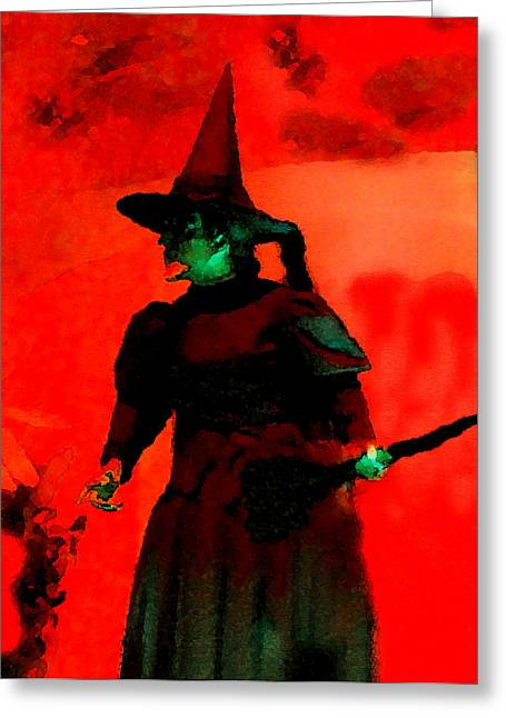 Holloween Greeting Cards - Wicked Greeting Card by David Lee Thompson