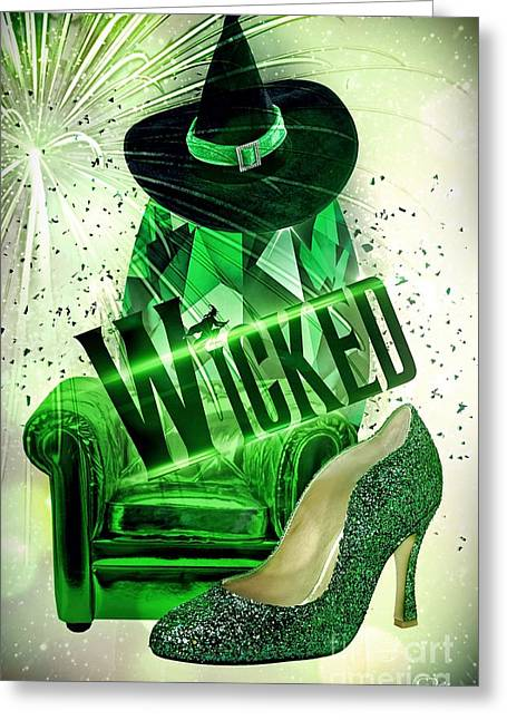 Greeting Card featuring the digital art Wicked by Mo T