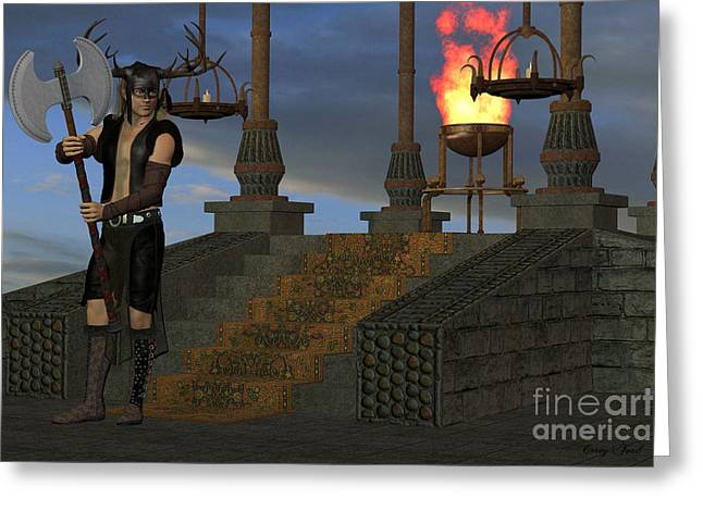 Wicked Shrine Greeting Card by Corey Ford