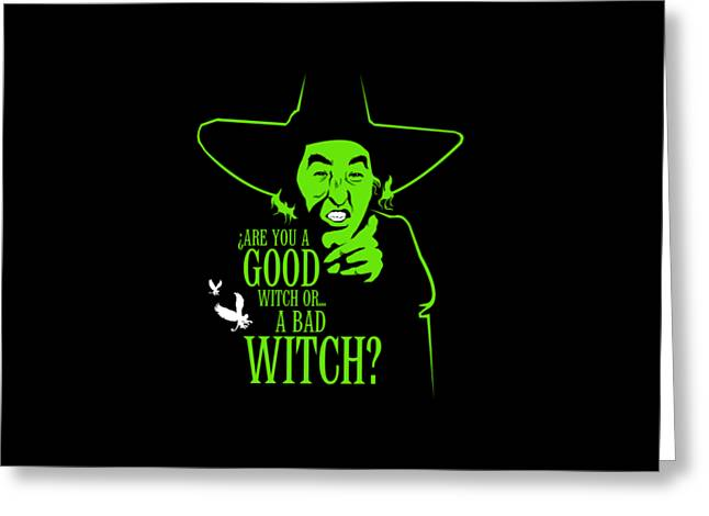 Wicked Witch Of West Greeting Card by Mos Graphix