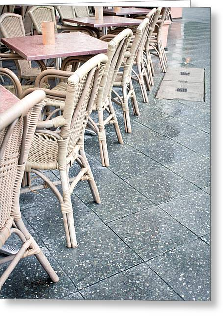 Wicker Chairs Greeting Card by Tom Gowanlock