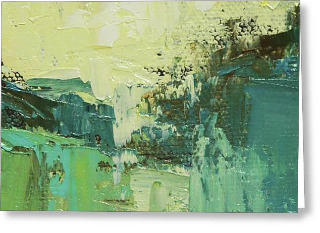 Wide Abstract H Greeting Card by Becky Kim