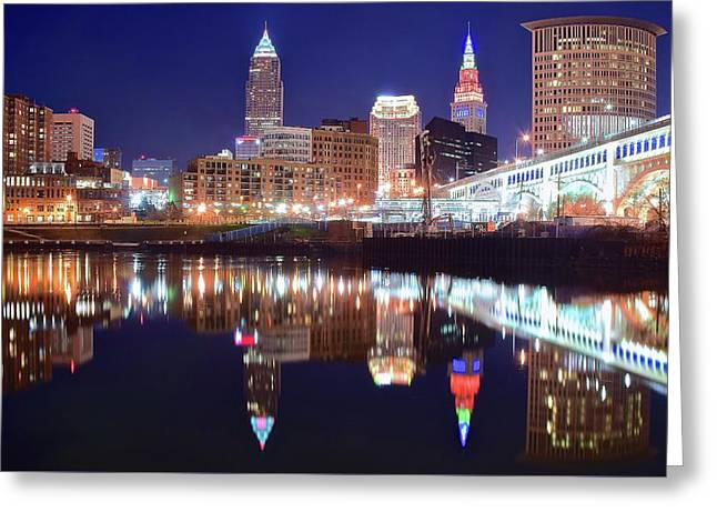 Wide Angle River Reflection Greeting Card by Frozen in Time Fine Art Photography