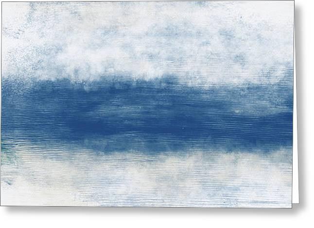 Wide Open Ocean- Art By Linda Woods Greeting Card