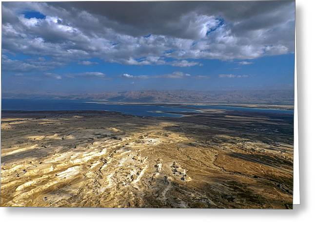 Wide View From Masada Greeting Card