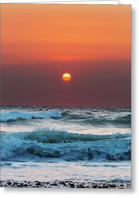 Widemouth Sunset, Cornwall Greeting Card