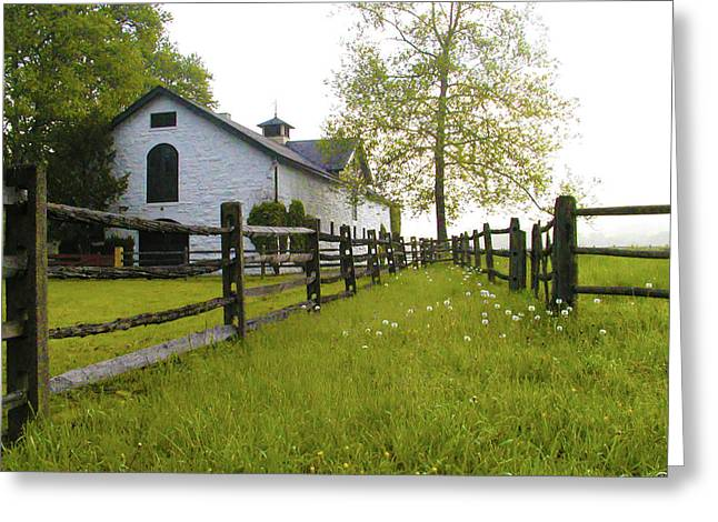 Widener Farms Horse Stable Greeting Card by Bill Cannon