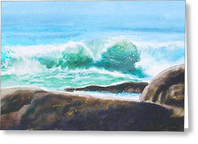 Widescreen Wave Greeting Card by Ken Meyer