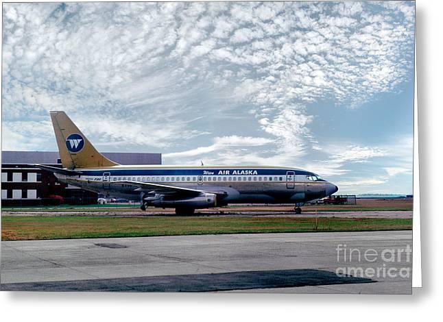 Wien Air Alaska Boeing 737, N4907 Greeting Card by Wernher Krutein
