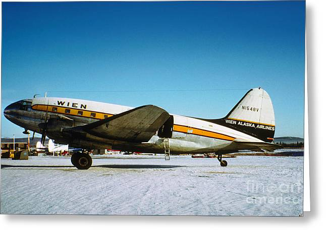 Wien Alaska Airlines Curtiss-wright Cw-20 N1548v Greeting Card by Wernher Krutein