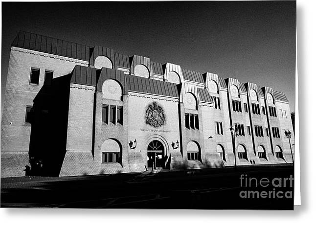 Wigan And Leigh Courthouse Magistrates County And Family Courts England United Kingdom Greeting Card by Joe Fox